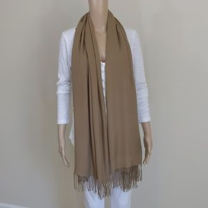 Beautiful Tan Cashmere Scarf